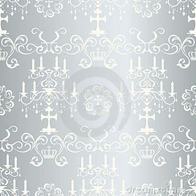 Seamless silver design pattern