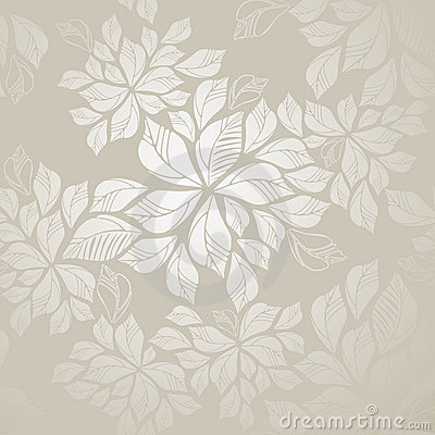 Free Seamless Silver Leaves Wallpaper Stock Photography - 21565432