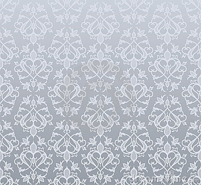 Seamless silver wallpaper