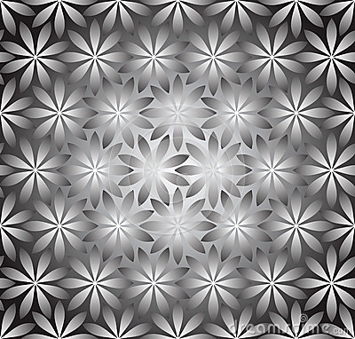 Seamless silver wallpaper of flowers