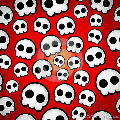 Seamless skull emo design