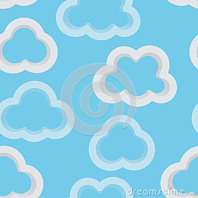 Seamless sky background with 3d clouds