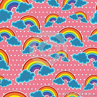Seamless sky with rainbow