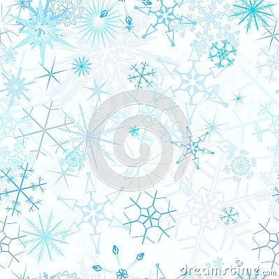 Seamless snowfall background