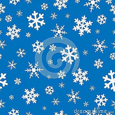 Seamless snowflakes backgroun