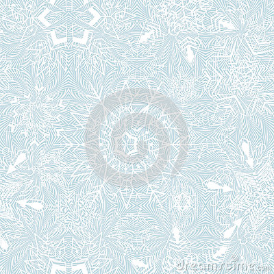 Seamless snowflakes background for winter and chri