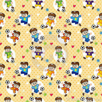 Seamless soccer player pattern
