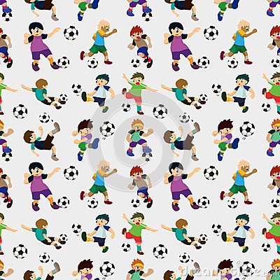 Seamless Soccer Player Pattern Stock Photography - Image: 27772012