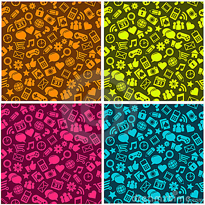 Seamless Social Media Pattern