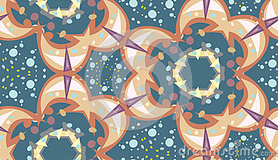 Seamless Sparkles and Dots Pattern