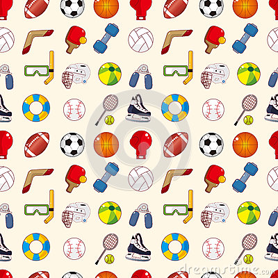 Seamless sport element pattern