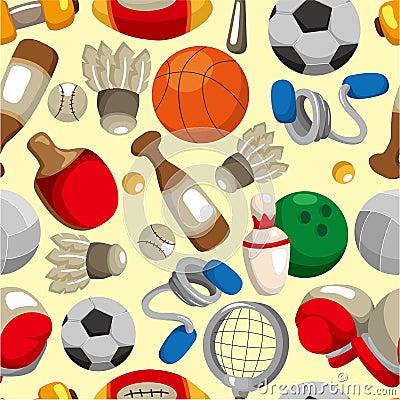 Seamless sport goods pattern
