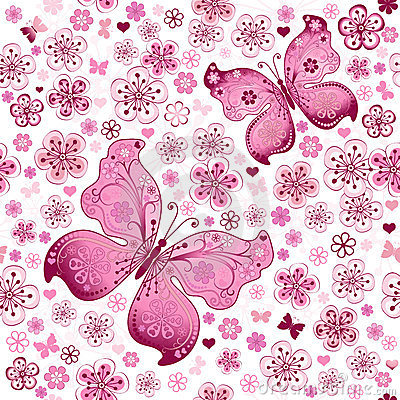Free Seamless Spring Floral Pattern Stock Photo - 23830250