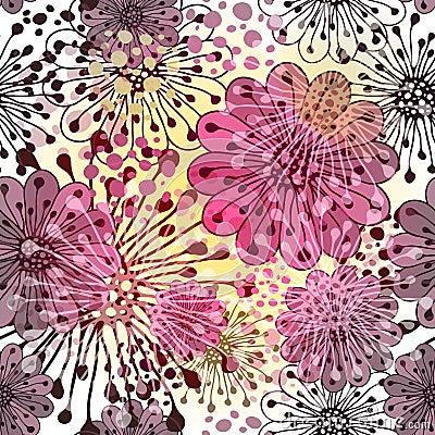 Free Seamless Spring Floral Pattern Stock Image - 27792641