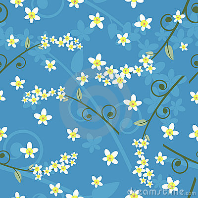 Seamless spring floral pattern - vector