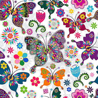 Free Seamless Spring Pattern Royalty Free Stock Images - 30811989