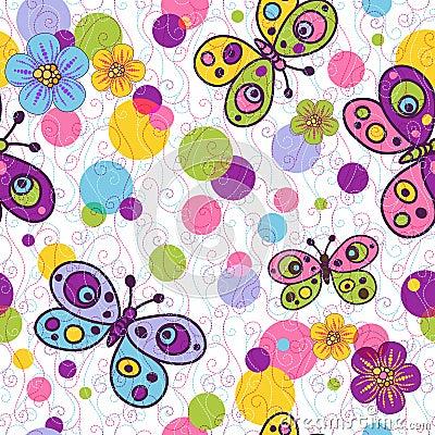 Free Seamless Spring Vivid Pattern Royalty Free Stock Images - 30095989
