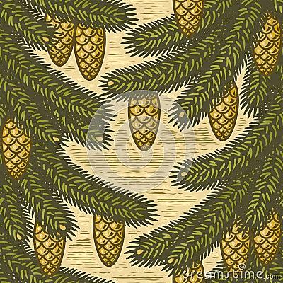 Seamless spruce background