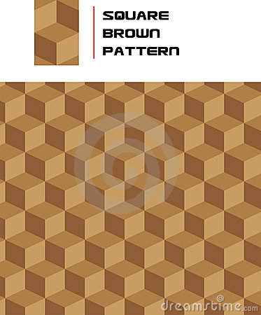 Seamless Square Brown Pattern