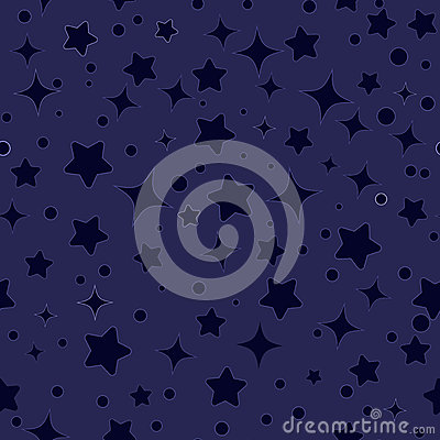 Free Seamless Stars Pattern Vector Stock Photography - 48943972