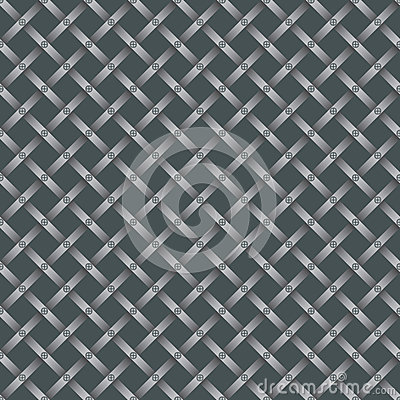 Seamless steel grating pattern