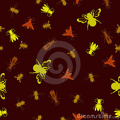 Seamless stinging insect background