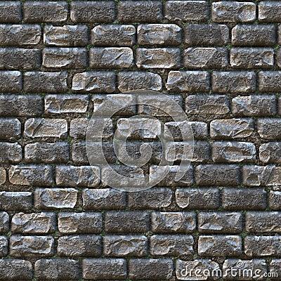 Free Seamless Stone Brick Wall Stock Photo - 13028890
