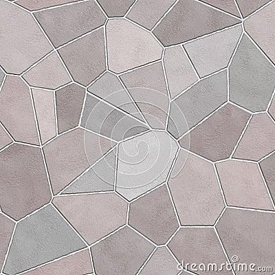 Seamless stone wall mosaic texture