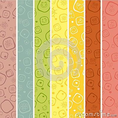 Seamless stripe pattern for kids