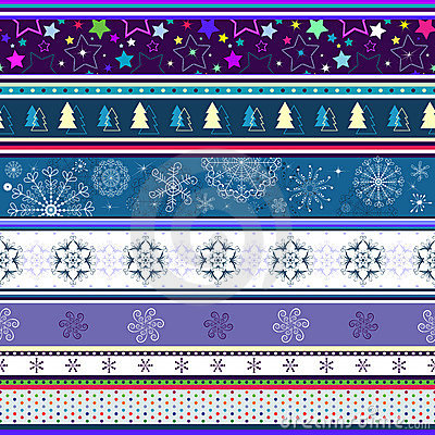 Free Seamless Striped Christmas Wallpaper Royalty Free Stock Image - 16192966