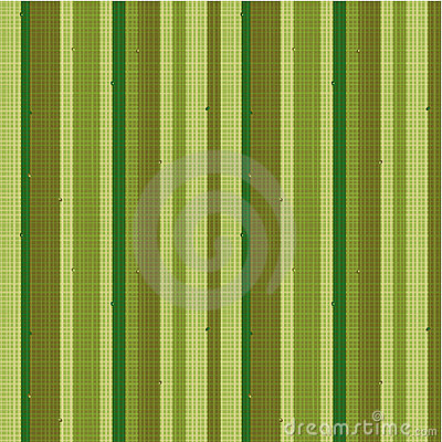 Seamless striped fabric pattern, green