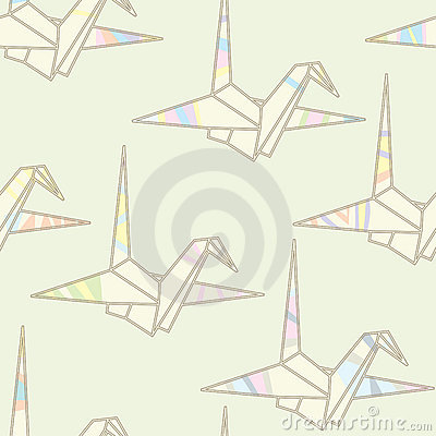 Seamless striped origami pattern