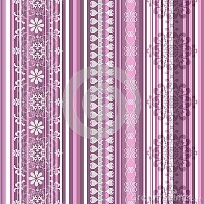Free Seamless Striped Pink Pattern Royalty Free Stock Images - 27248849