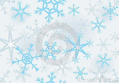 Seamless structure with snowflakes