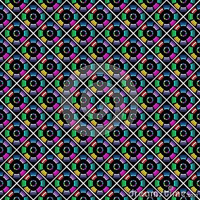 Seamless stylish multicolor pattern.