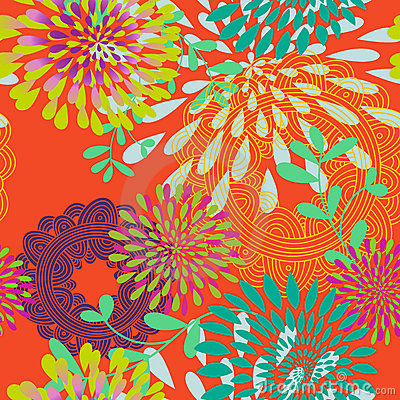 Seamless Swirls and Circles Pattern