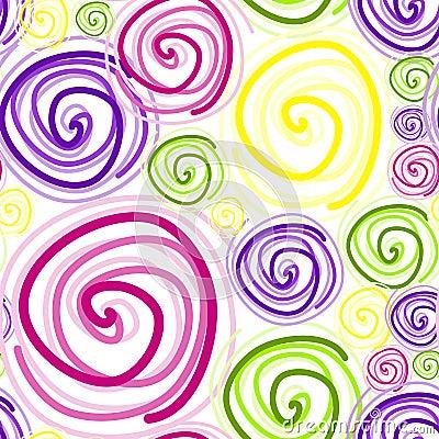Free Seamless Swirls On White Stock Photography - 23732312