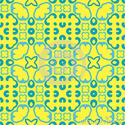 Seamless symmetrical pattern, texture