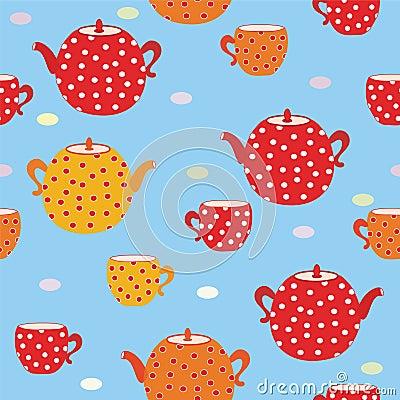 Seamless tea bright  pattern