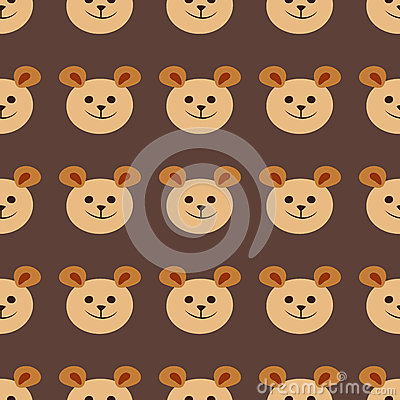 Seamless teddy bear pattern vector pattern design animal illustration cartoon fabric baby decoration Vector Illustration
