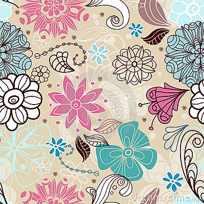 Seamless tender floral background