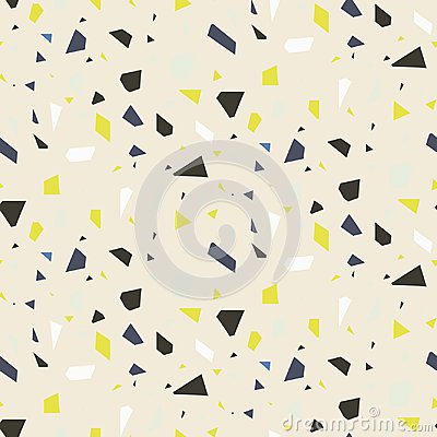 Free Seamless Terrazzo Floor Rock Vector Pattern. Stock Photo - 99432740