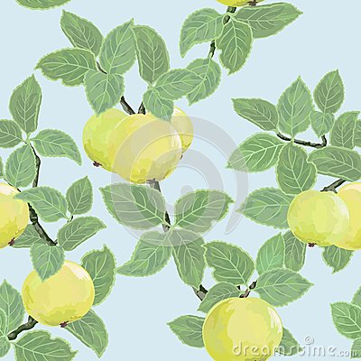 Seamless  texture with apples