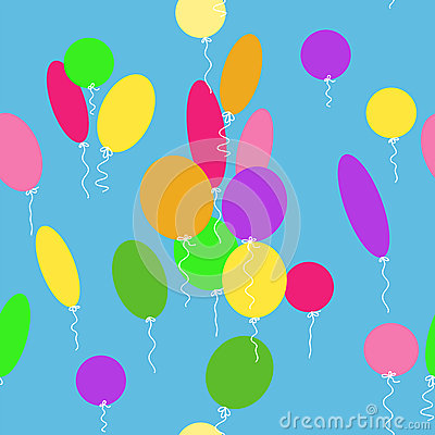 Seamless texture with balloons