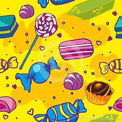 Seamless texture of candy