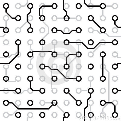 Seamless  texture - circuit board