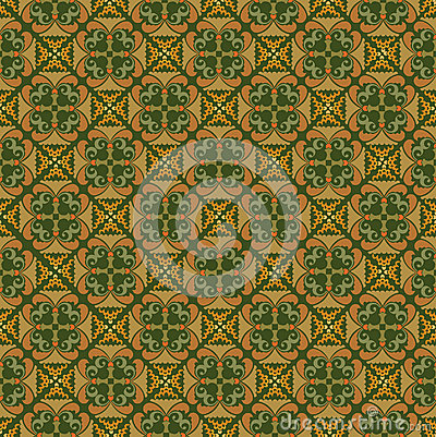 Seamless texture with floral ornament