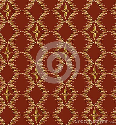 Seamless texture with floral ornamental lines