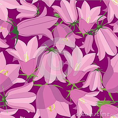 Seamless texture with floral theme