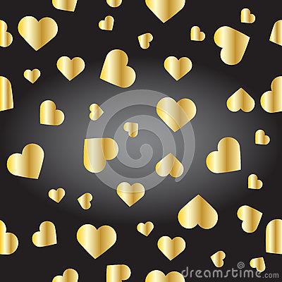 Free Seamless Texture From Golden Hearts Stock Photography - 69020922